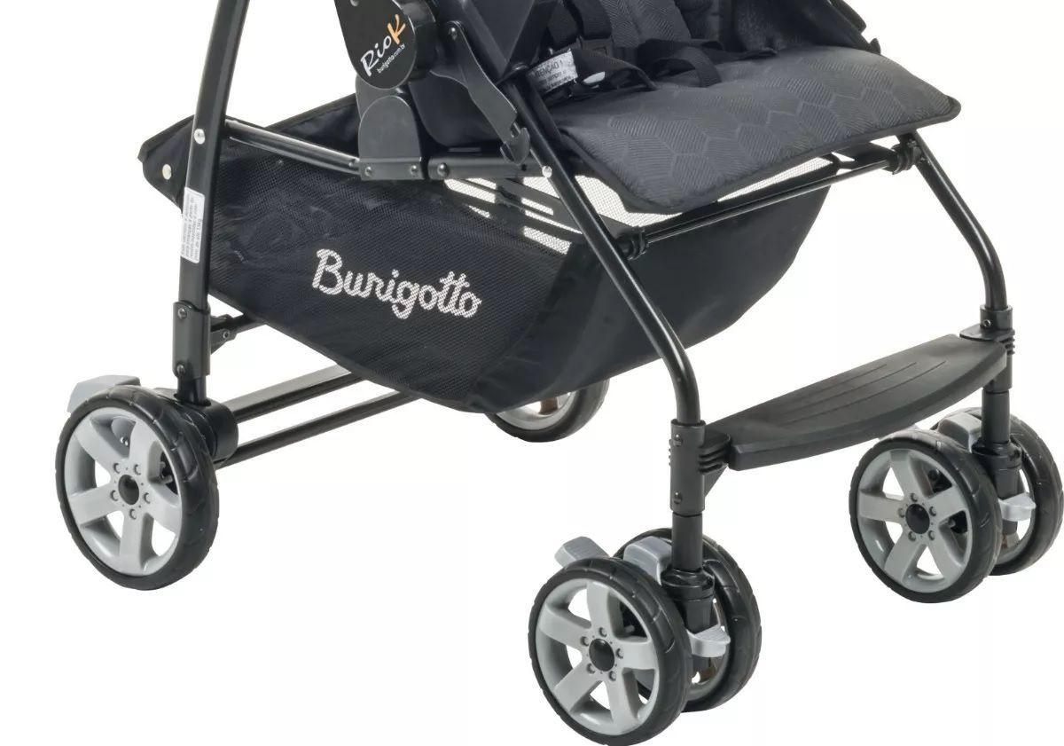 Carrinho De Bebê Burigotto Rio Reclinável 4 Posições