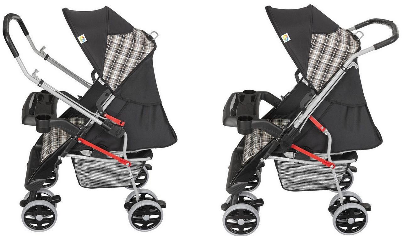 Carrinho De Bebê Conforto Passeio Thor Plus Preto Tutti Baby