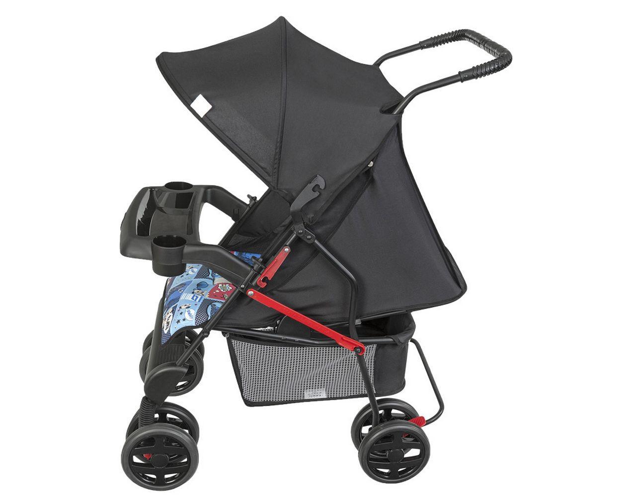 Carrinho De Bebê Menino Azul Estampado Encaixe Para Bebe Conforto Tutti Baby