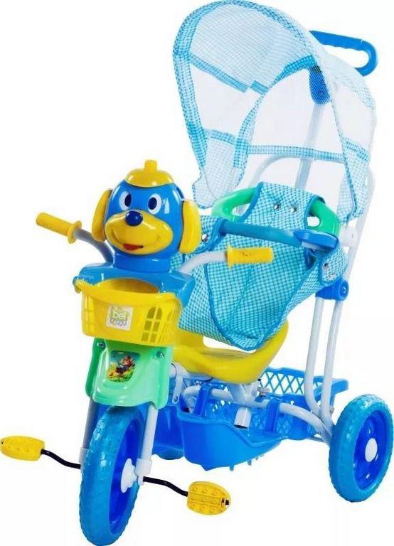 Carrinho Triciclo Gangorra Cabeça Cachorro Azul