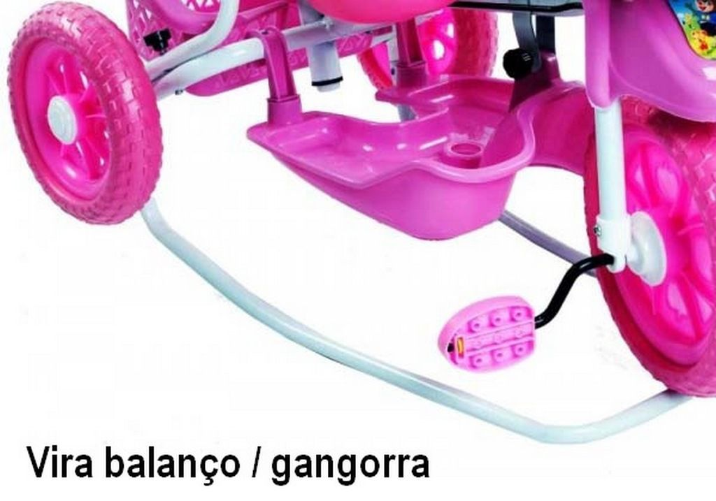 Carrinho Triciclo Gangorra Cabeça Cachorro Rosa Belfix