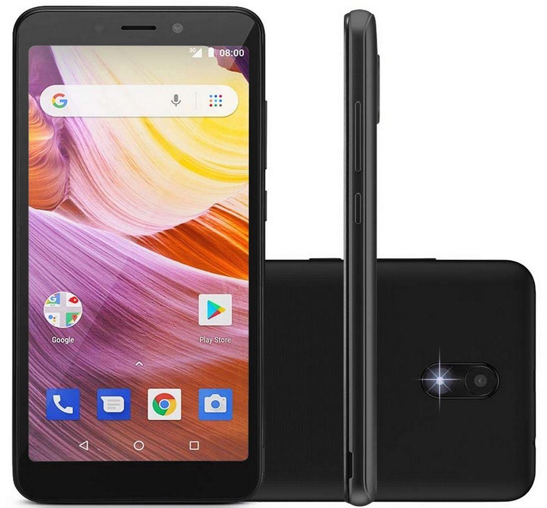 "Celular Smartphone Ms50g 3g Quad Core Tela 5,5"" Dual Chip Android 8.1 Cameras 8mp + 5mp Preto Multilaser - Nb736"