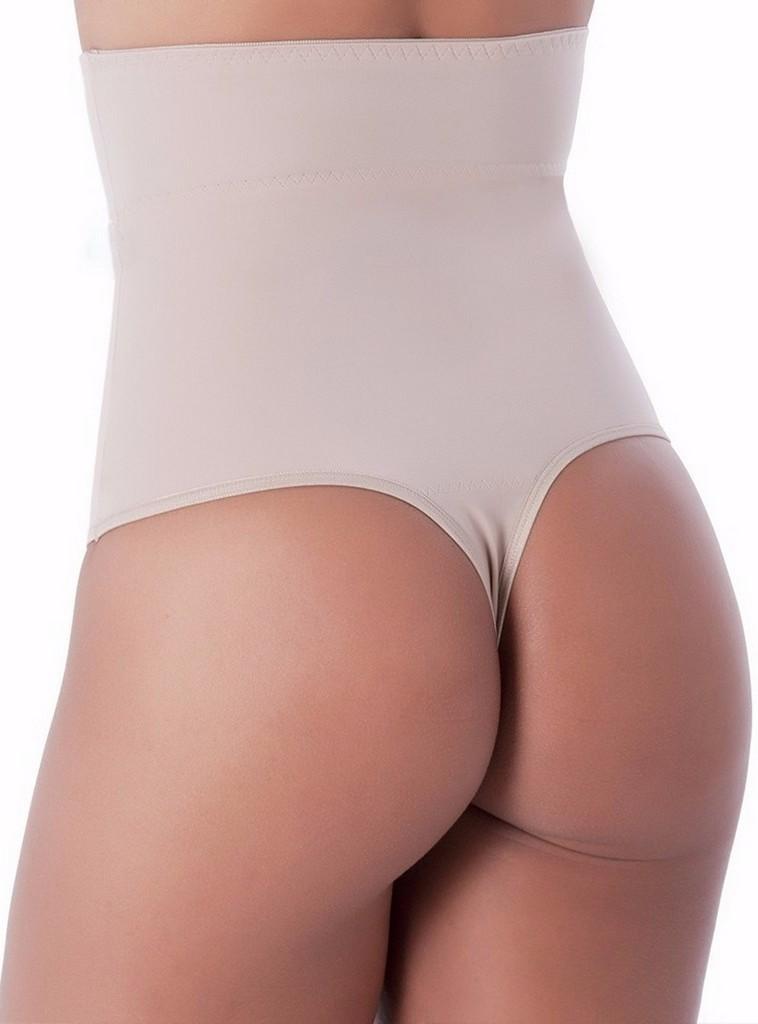 Cinta Modeladora Cós Alto Aperta Barriga Feminina Fio Dental shapewear
