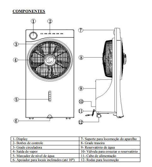 Climatizador De Ar Vicini Umidificador Ultrassônico - VCL-300