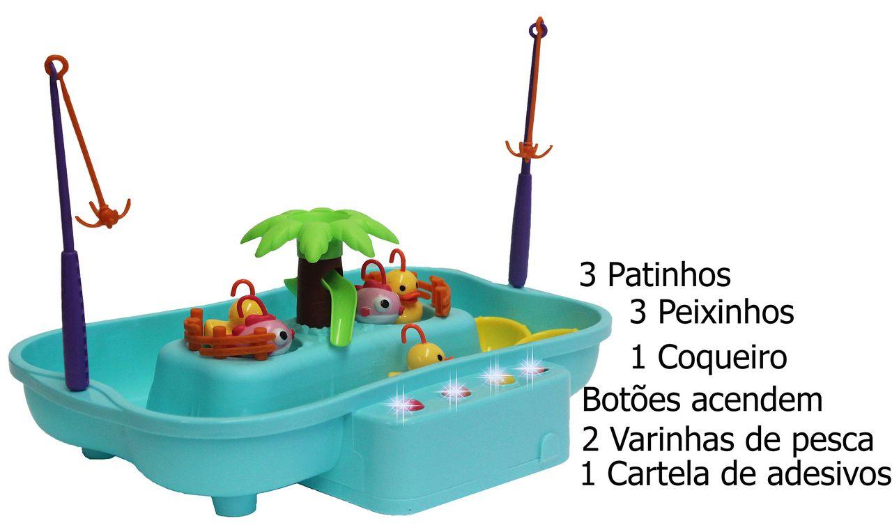 Clubinho Da Pesca Eletrônico Infantil Menino Menina Peixinhos Coloridos Educativo Modelo ZP00560 Original Zoop Toys
