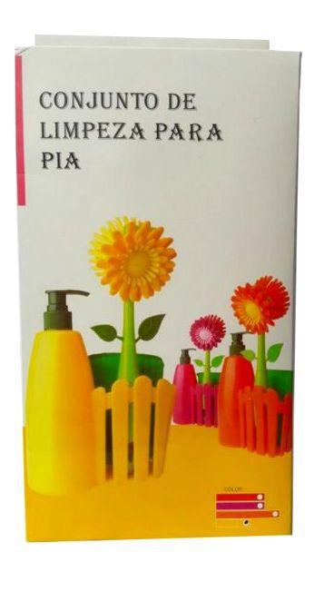Conjunto De Limpeza Para  Pia com Flor