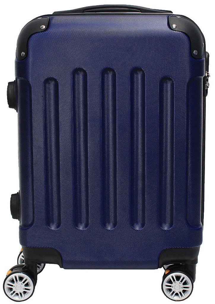 Kit Conjunto 2 Malas De Bordo Viagem 18'' 20'' Abs Rígida Pequena 4 Rodinhas 360° Cadeado Senha Azul Hinza Original