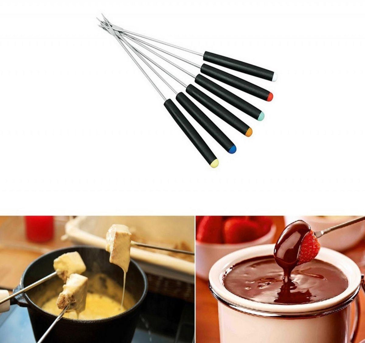 Conjunto Para Fondue 22 Peças Médio Chocolate Queijo Petiscos Com Base Giratória Vários Acessórios Rich Well