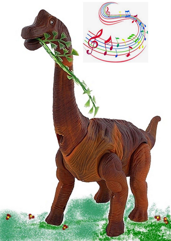 Brinquedo Infantil Dinossauro Eletrônico Articulado com Luzes Som e Bota Ovos