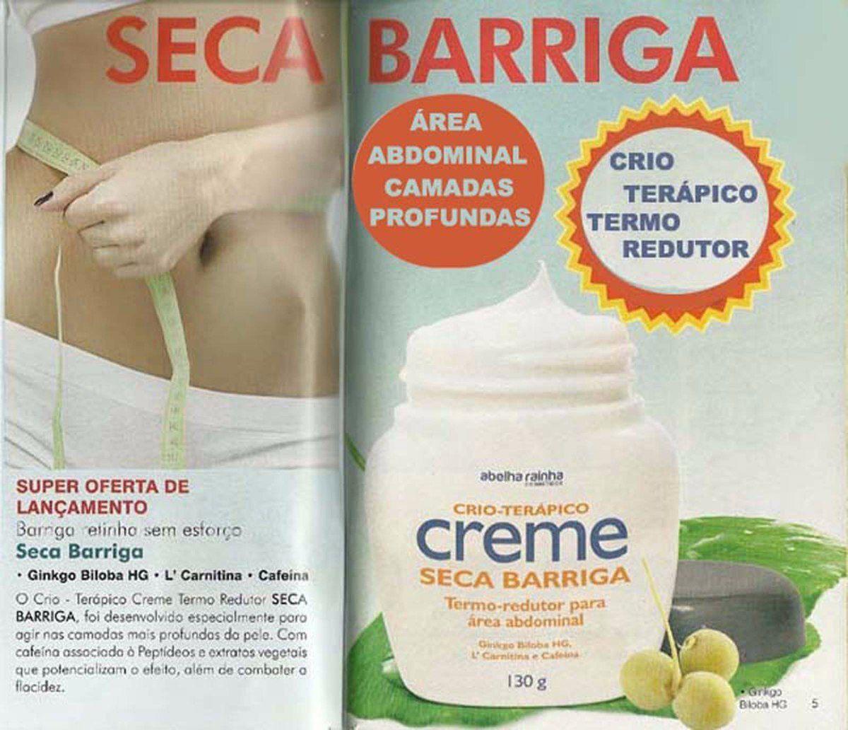 Kit 6 Crio Terápico Creme Seca Barriga Termo Redutor Abelha Rainha