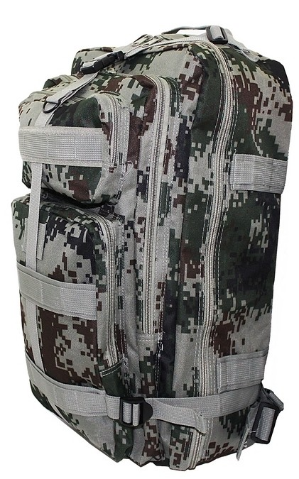Mochila Grande Camuflada Verde Reforçada Exercito  Militar
