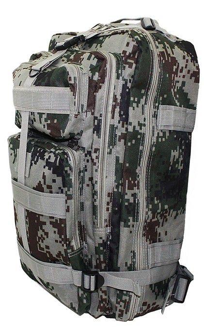 Mochila Grande Notebook Camuflada Verde Reforçada Exercito Militar