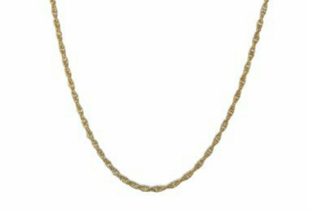 Corrente Fio Meia Corda 035 Rommanel 50cm Feminino 530301 Folheado Ouro