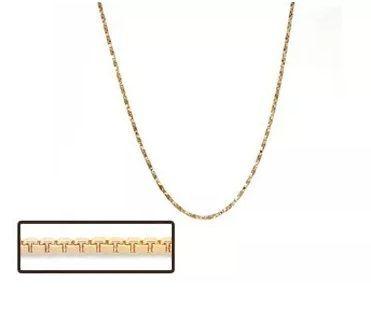 Corrente Rommanel Fio Veneziana 50 Cm Folheado a Ouro 530165