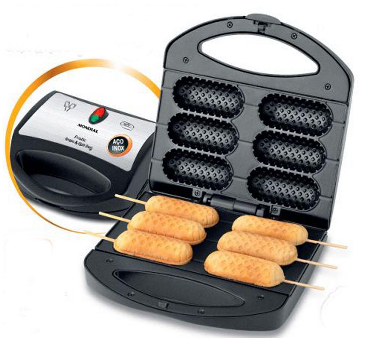 Crepeira Elétrica Mondial Pratic Crepe Hot Dog  Inox Original Lançamento