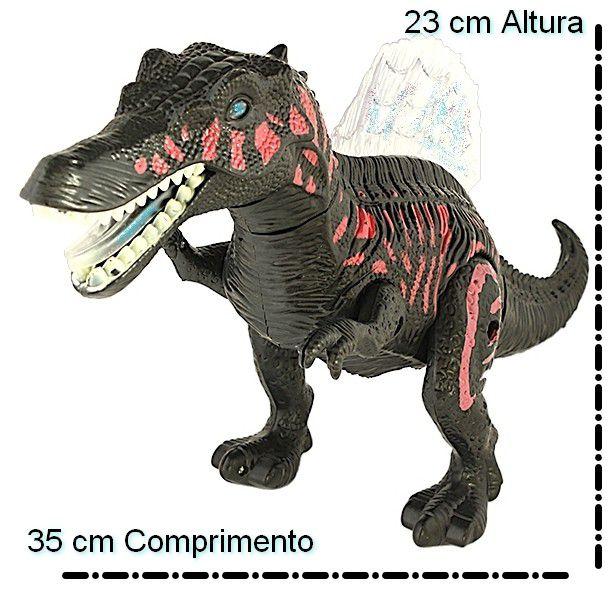 Brinquedo Infantil Musical Dinossauro Articulado Movimentos