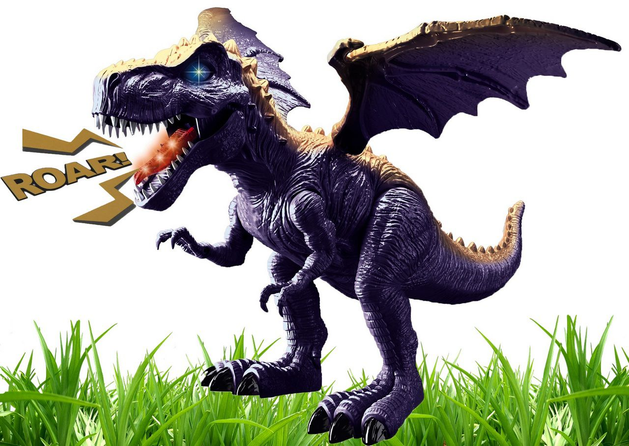Dinossauro Dragão Alado Infantil Menino Eletrônico Som Luz Anda Movimentos +3 Anos Plástico Resistente Zoop Toys Original