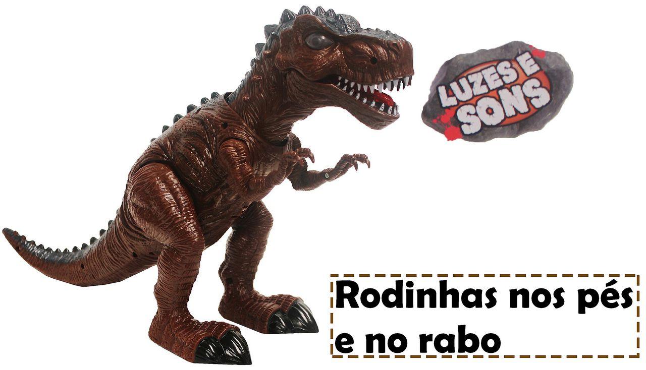 Dinossauro Tiranossauro Rex Infantil Menino Eletrônico Som Luz Anda +3 Anos Plástico Resistente Zoop Toys Original