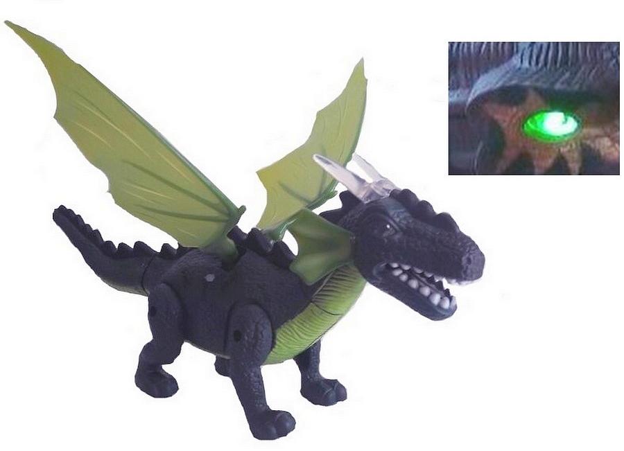 Dragão Dinossauro Eletrônico Anda Acende Luz, Emite Som