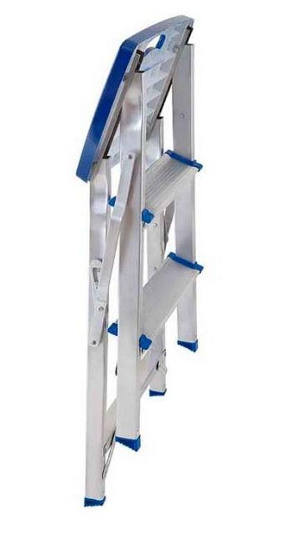 Escada Banqueta Alumínio Suporta 120 Kg Mor