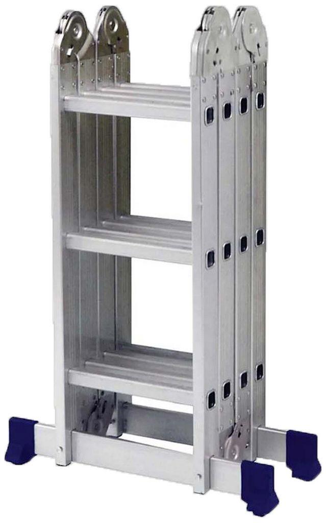 Escada Multifuncional  Alumínio Plataforma 4 x 3 MOR