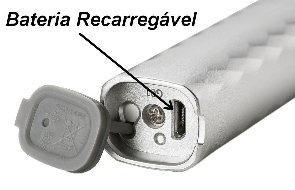 Escova Dental Elétrica Multilaser Ultracare Branco Usb Refil Limpeza Clareamento Massagem