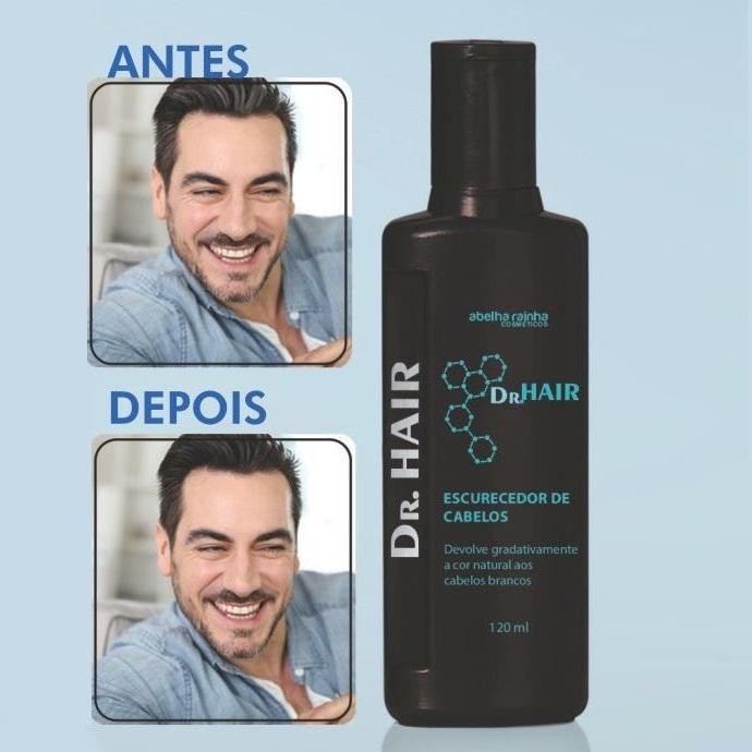Escurecedor De Cabelos Dr. Hair 120ml - Abelha Rainha