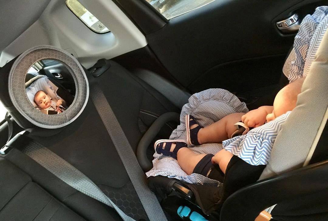 Espelho Retrovisor Bebê Carro Banco Traseiro Baby Look Multikids