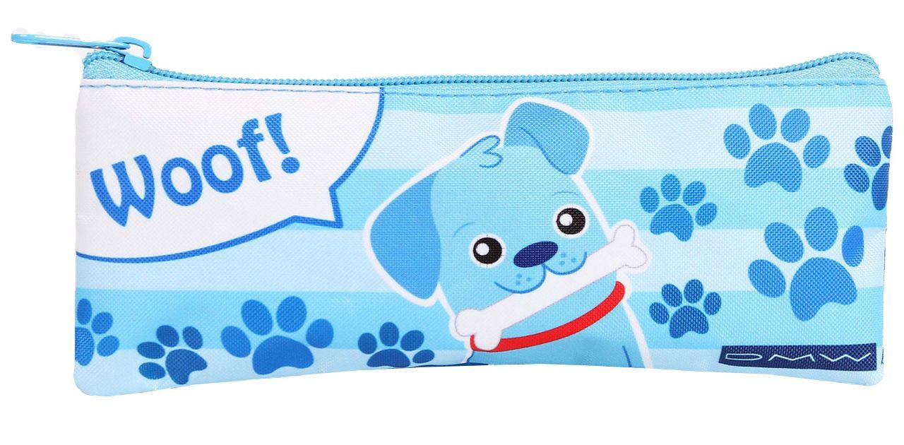Estojo Escolar Azul Resistente Woof Infantil Menino DMW