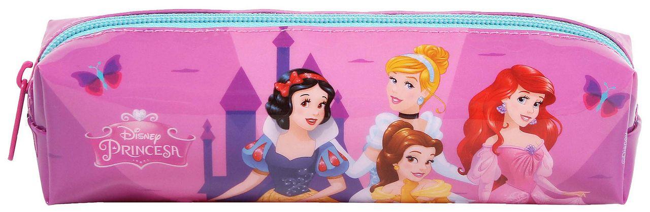 Estojo Escolar Princesas Infantil Menina Rosa Resistente Dermiwil
