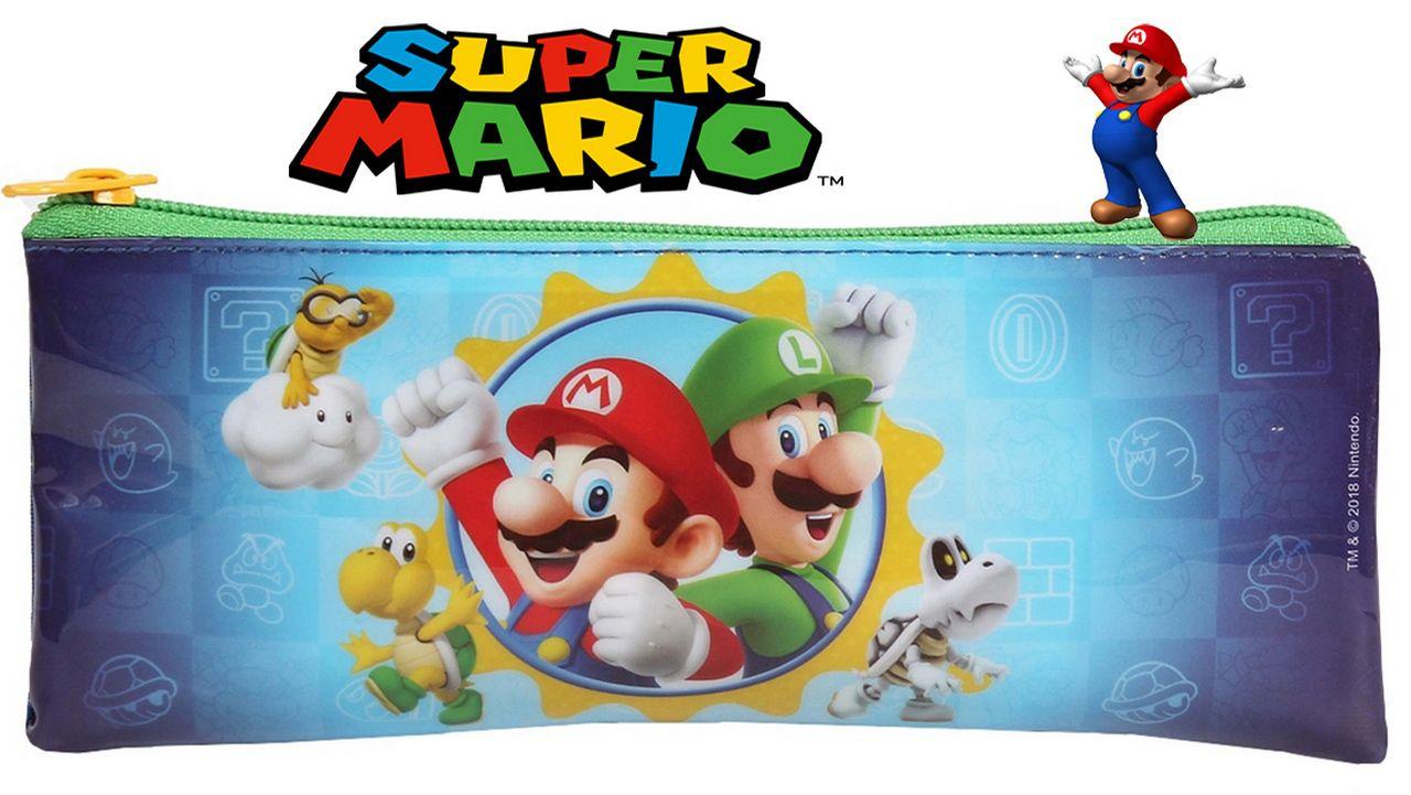 Estojo Escolar Resistente Super Mario Menino Infantil DMW