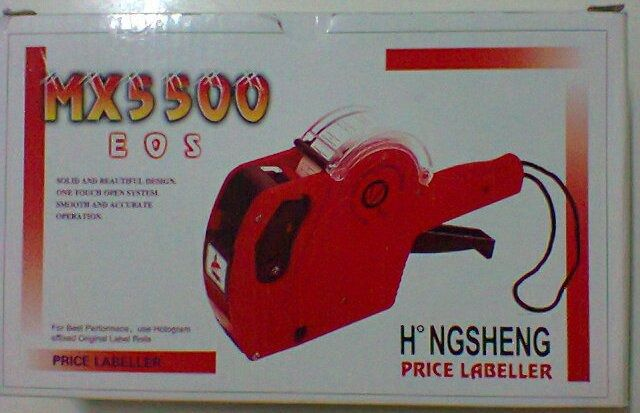 Etiquetadora Manual 8 Dígitos Mx5500 P/ Preços Códigos Datas