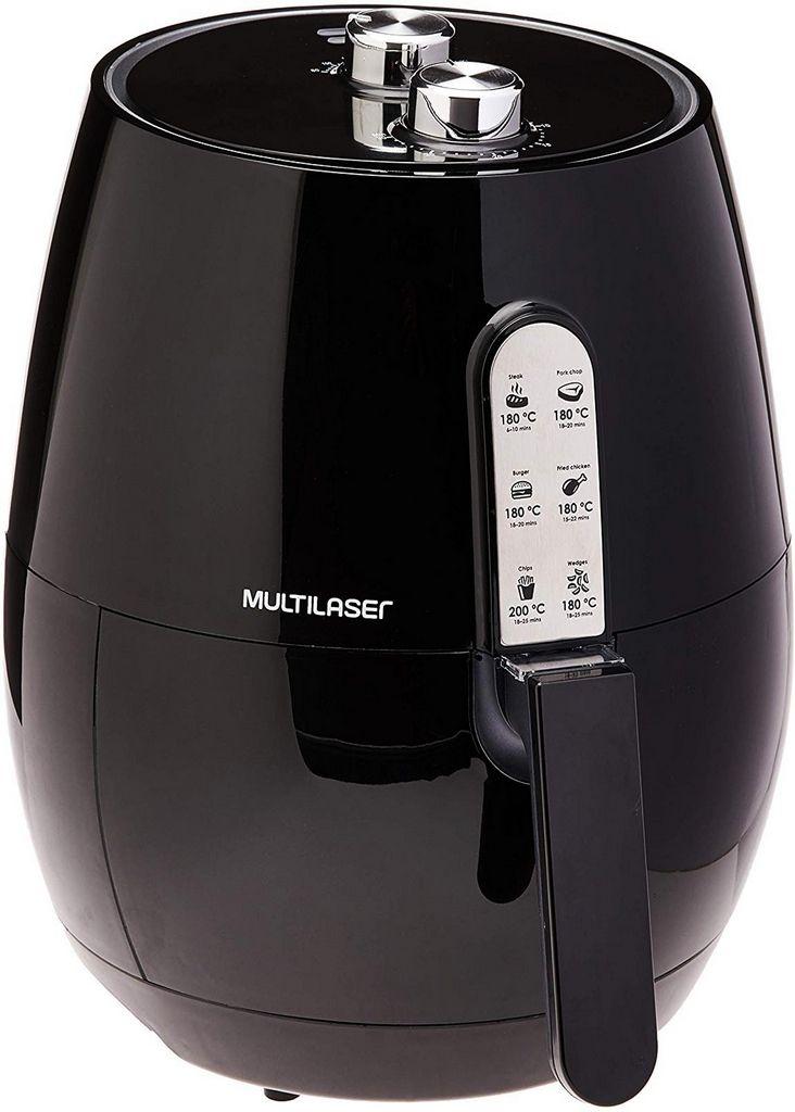 Fritadeira Elétrica Air Fryer Gourmet 220V-1400W Multilaser 3,5 Litros Frita Sem Óleo Com Cesto Removível Timer 30 Minutos Multilaser