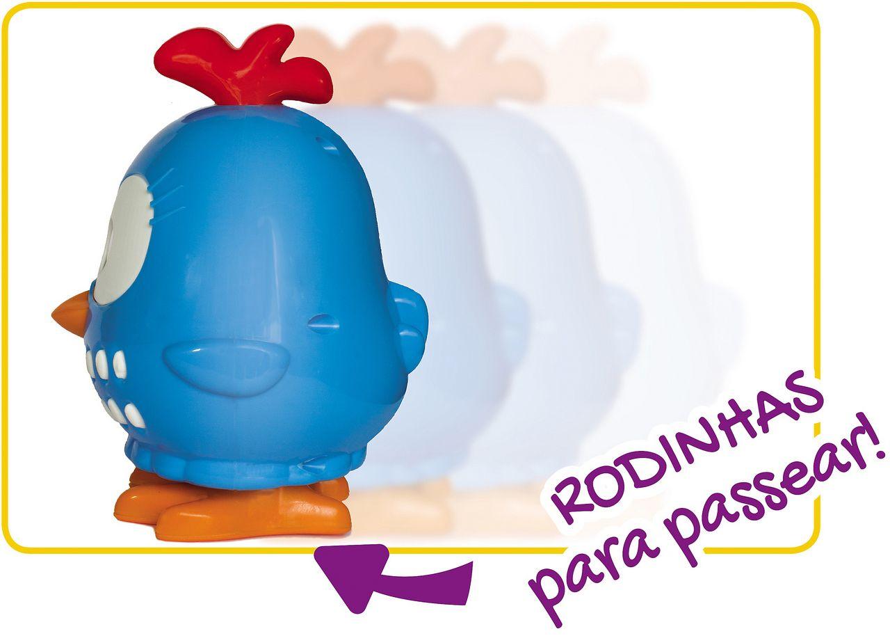Galinha Pintadinha Mini Musical Brinquedo Infantil Bebê 12 Meses Rodinha Música Boneca Boneco Bolhas De Sabão Elka Original