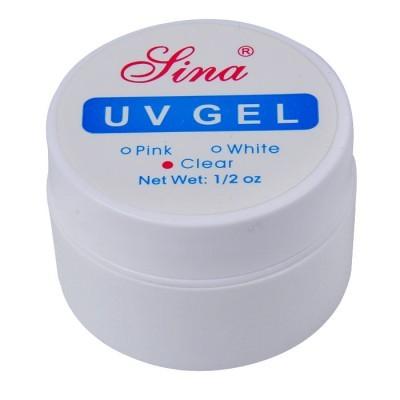 Gel Clear UV Para Unhas Tips Fibra Acrigel Banho de Gel