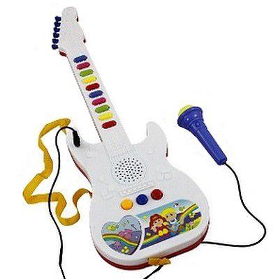 Guitarra Infantil Microfone Som Musica Luz  Deixa Cantar - Brinquedo