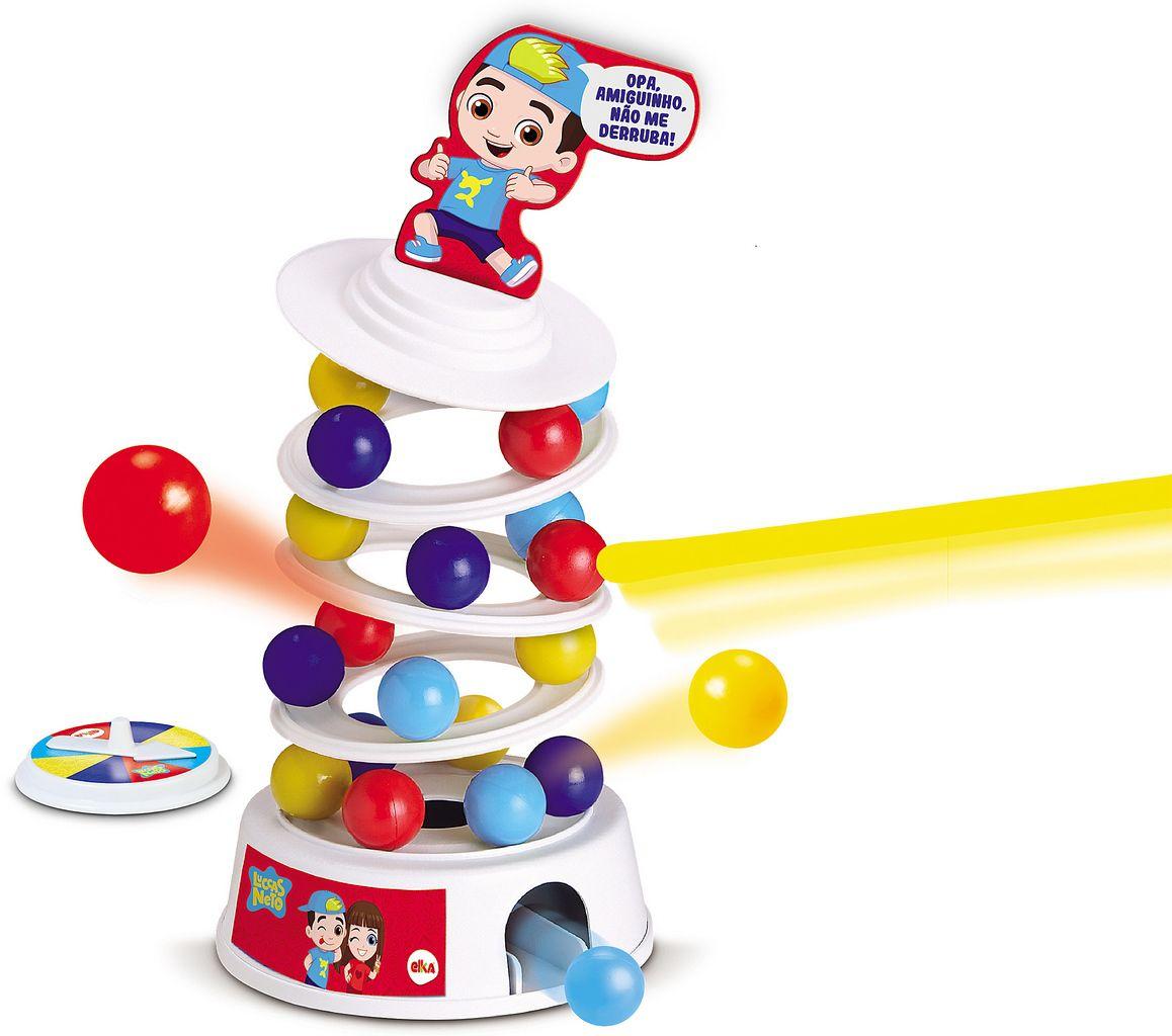 Jogo Avalanche Luccas Neto Original Brinquedo Infantil Torre Desafio Menino Menina Lançamento Elka
