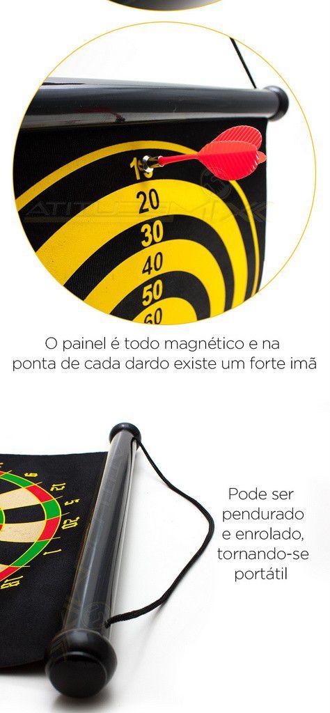 Jogo De Dardos Dupla Face Magnético Tiro Ao Alvo