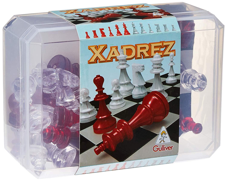 Jogo De Xadrez e Damas Raciocínio 2 Em 1 Lógica Moderno Original Gulliver Activity Maior 7 Anos Menino Menina Lançamento