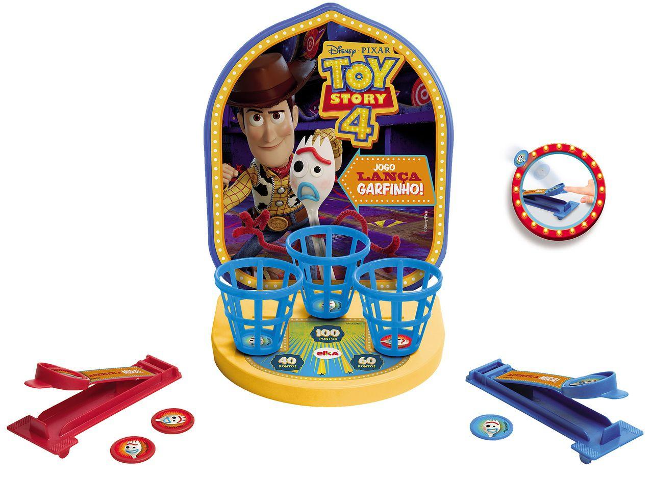 Jogo Lança Garfinho Toy Story 4 Brinquedo Educativo Infantil Menina Menino +4 Anos Lançamento 2019 Elka Original