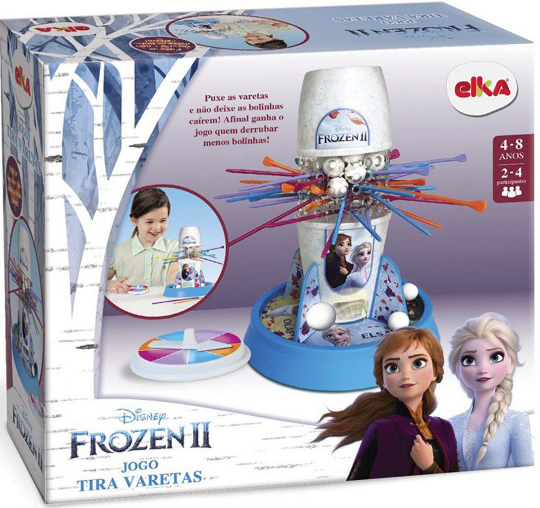 Jogo Tira Pega Varetas Frozen 2 Menina Raciocínio Equilíbrio Brinquedo Novo Azul Divertido Infantil Bolhas De Sabão Elka