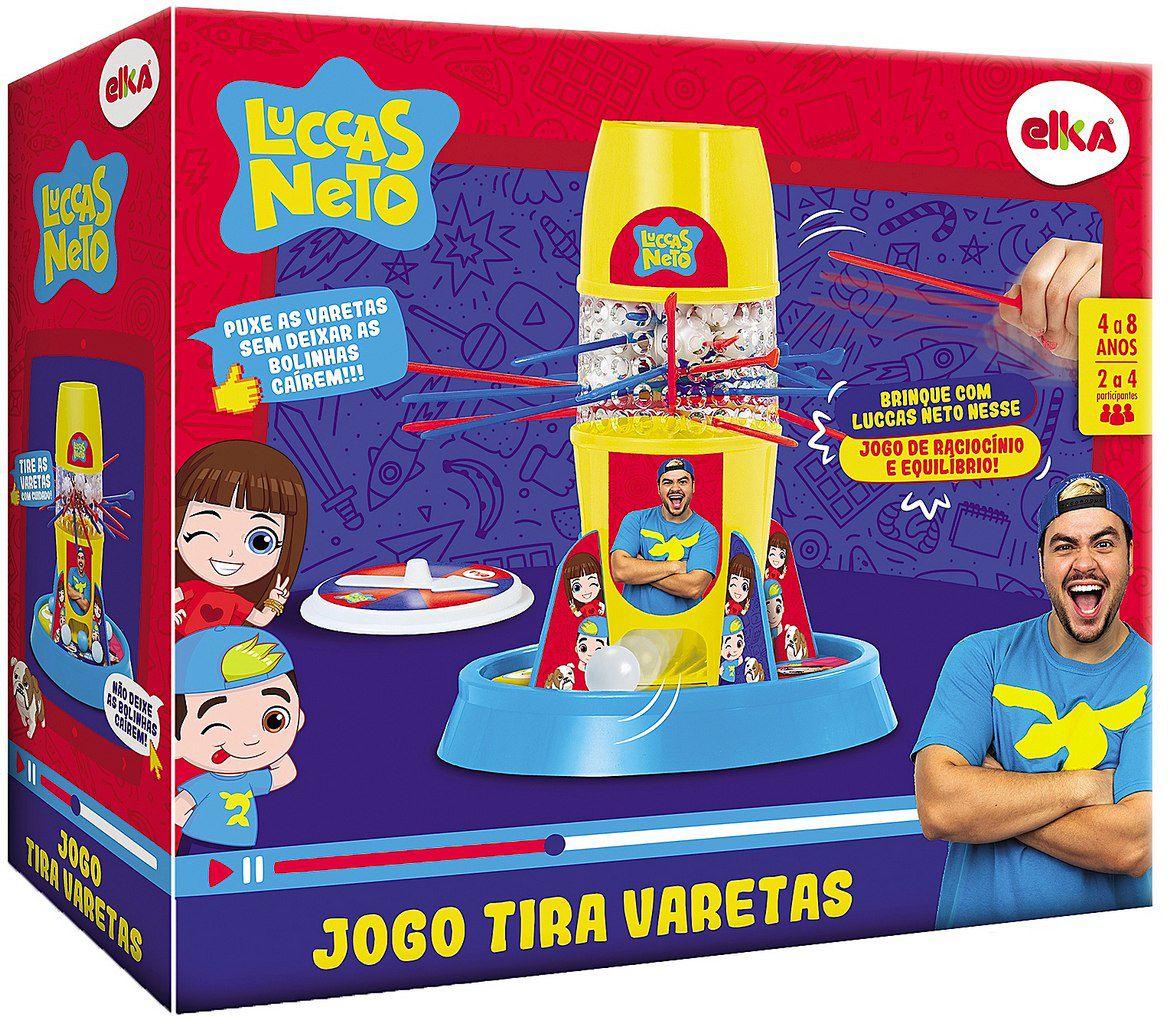 Jogo Tira Pega Varetas Luccas Neto Bolhas De Sabão Menino Menina Raciocínio Equilíbrio Brinquedo Infantil Elka