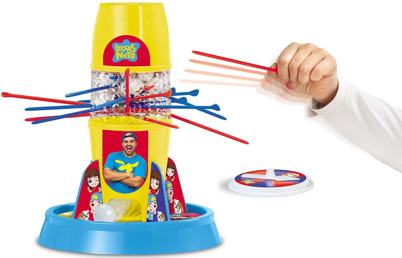 Jogo Tira Pega Varetas Luccas Neto Original Menino Menina Raciocínio Equilíbrio Brinquedo Infantil Elka