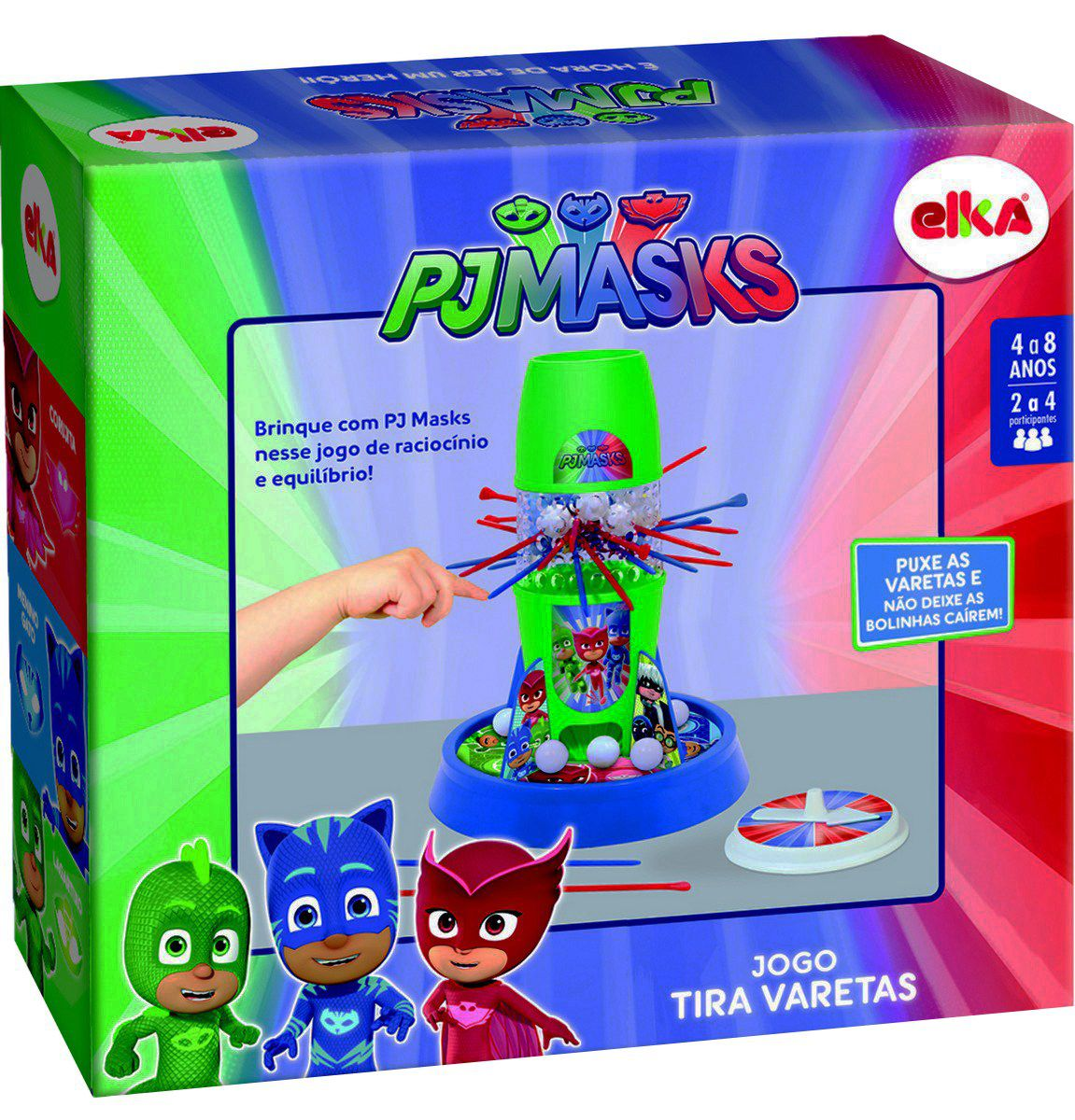 Jogo Tira Varetas Pj Masks Menino Menina Super Heróis Bolhas De Sabão Raciocínio Equilíbrio Brinquedo Elka