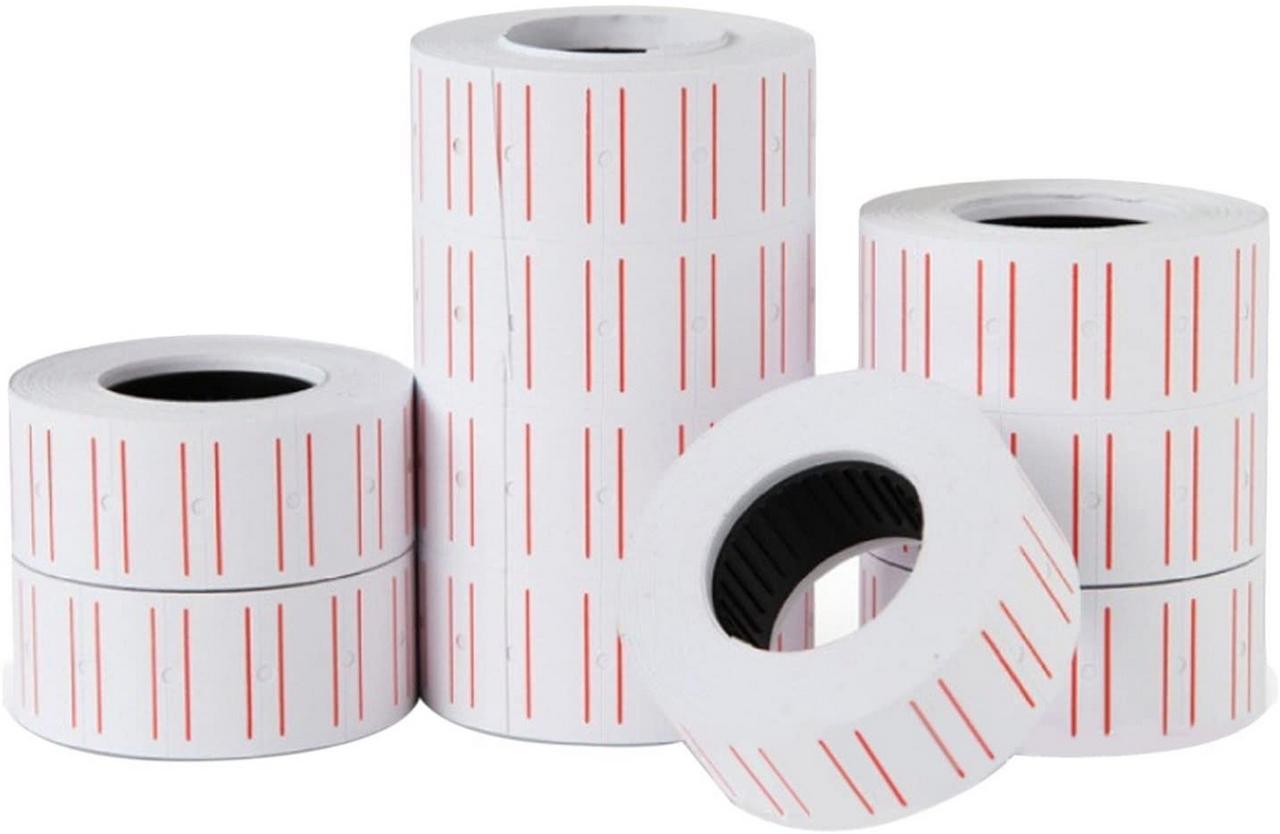 Kit 10 Rolos De Etiquetas Adesiva Preço Código Para Etiquetadora Modelo Mx5500 6000 Unidades
