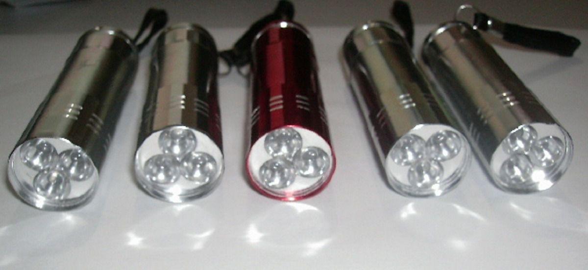 Kit 15 Mini Lanterna 3 Leds Em Alumínio Tática Chaveiro
