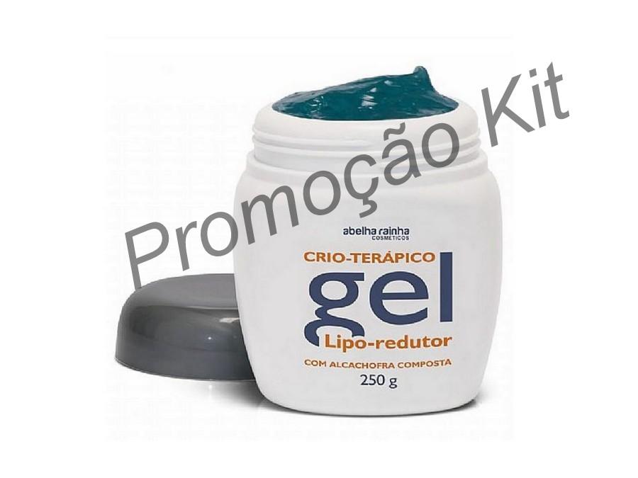Kit  6 Gel Lipo Redutor Crio Terápico 250g - Abelha Rainha