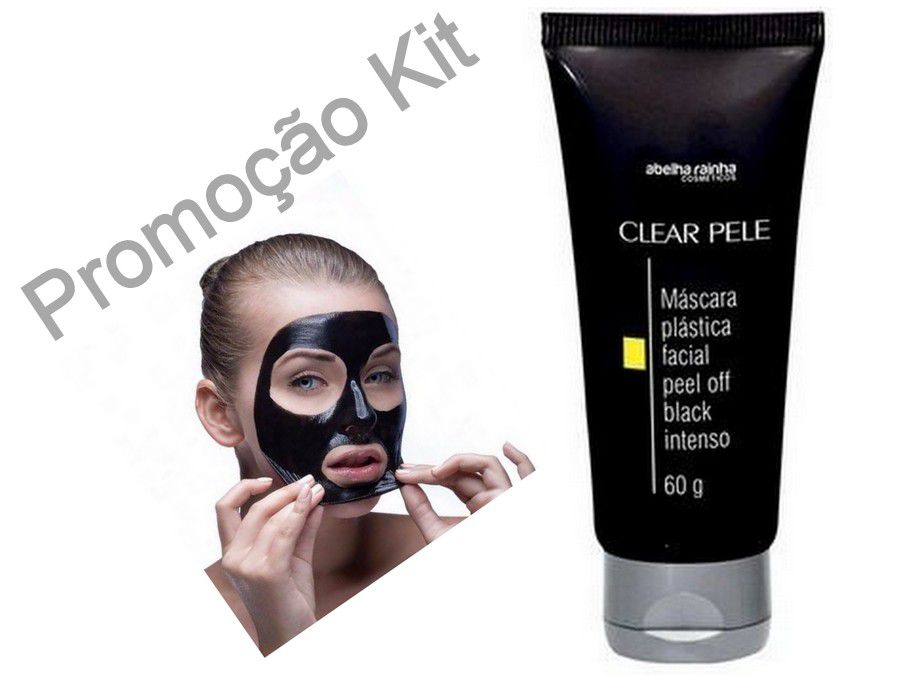 Kit 6 Máscara Facial Black Removedora De Cravos Abelha Rainha