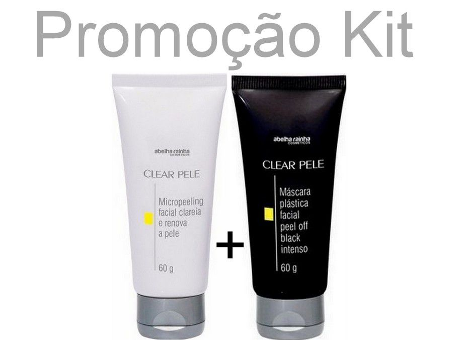Kit 12 Máscaras - 6 Black e 6 Micropeeling Facial