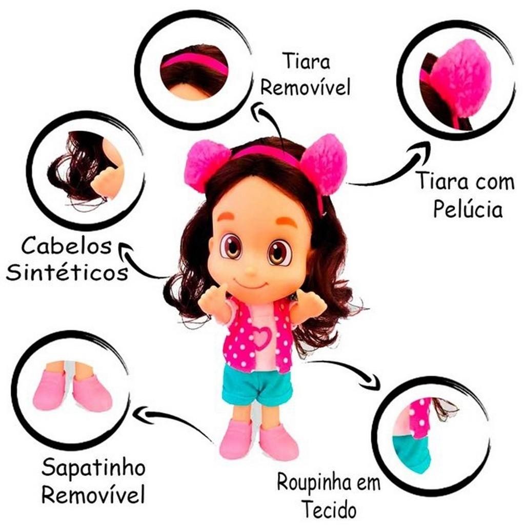 Kit Boneca Maria Clara & JP Infantil Menino Menina Lançamento Baby Brink Divertidos Vinil Macio Lançamento Youtubers